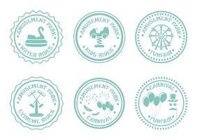 selos do parque de diversões vetor