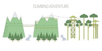 Ilustração do turismo ecológico