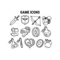 Conjunto de ícones do jogo vetor