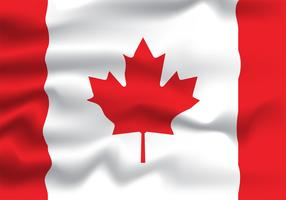 projeto de vetor de bandeira realista do Canadá