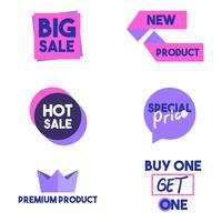 Banner de elemento gráfico de venda e desconto vetor