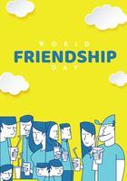 Cartaz do dia da amizade do mundo vetor