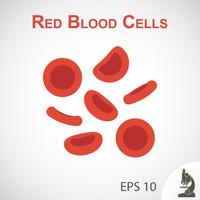 Design plano células vermelhas do sangue no fundo vinheta