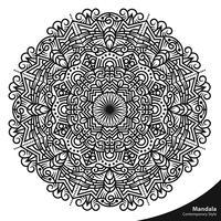 Elementos decorativos de estilo contemporâneo de mandala