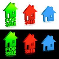 Casa para venda e venda de sinais vetor