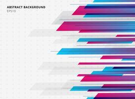 Fundo horizontal do movimento brilhante brilhante azul e cor-de-rosa geométrico abstrato da cor do inclinação da tecnologia. Modelo de folheto, impressão, anúncio, revista, cartaz, site, revista, folheto, relatório anual. vetor