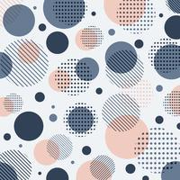 Teste padrão de pontos azul, cor-de-rosa moderno abstrato com linhas diagonalmente no fundo branco. vetor