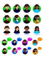 Conjunto de ícones de suporte on-line