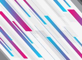 Movimento brilhante da cor brilhante azul e cor-de-rosa geométrica abstrata da tecnologia da inclinação do fundo diagonalmente. Modelo de folheto, impressão, anúncio, revista, cartaz, site, revista, folheto, relatório anual. vetor