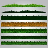pacote de grama de futebol vetor