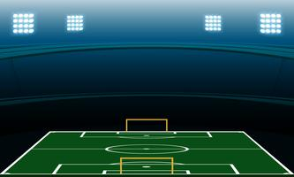 estádio de futebol noturno vetor