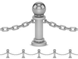 Cerca de aço sem emenda isolada no branco vetor