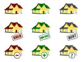 Casa para venda e aluguel vetor