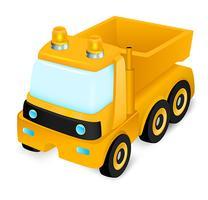 Brinquedo de caminhão de construção vetor
