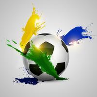 bola de futebol splatter vetor