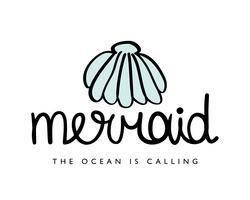 Design de sereia com concha do mar