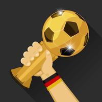 Troféu de futebol para a Alemanha vetor