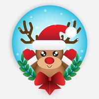 Natal da rena dos desenhos animados