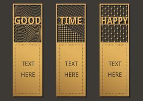 Modelo de texto de marcadores vetor