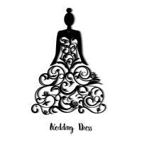 Modelo de vestido de casamento vetor