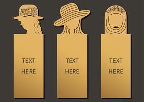 Bookmark conjunto de mulher vetor