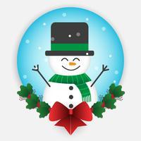 Natal boneco de neve dos desenhos animados vetor