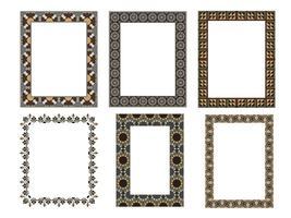 Moldura quadrada elegante ... ilustração vetorial ... Conjunto de coleta vetor