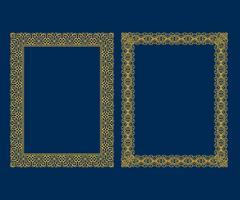 O grupo de quadros decorativos luxuosos e de beiras do vintage ajustou-se, estilo do teste padrão da decoração do projeto do vetor do quadro da foto do ouro.