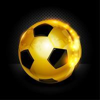 Bola de futebol de ouro