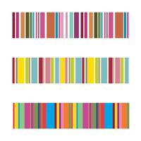 listras coloridas verticais abstraem base, pixels esticados vetor