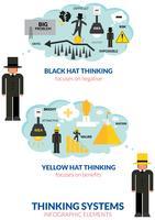 Infográfico de homem de pensamento vetor