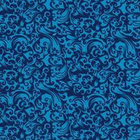 fundo elegante azul do damasco sem costura vetor