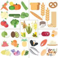 Nutrição, alimento saudável vetor