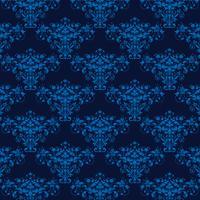 fundo elegante azul do damasco sem costura