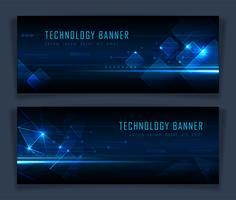 Bandeira de tecnologia abstrata futurista