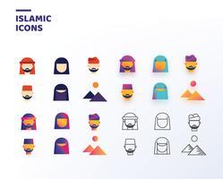 Pacote de vetores de ícones islâmicos