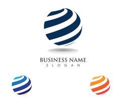 Comunicação de logotipos de tecnologia global vetor
