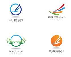 Negócio de logotipo de finanças vetor