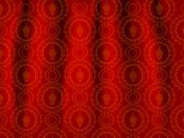 Ornamento vermelho e dourado vetor