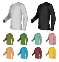 Modelo de t-shirt em branco de manga comprida vetor