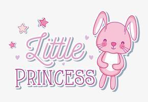 Cartão bonito dos desenhos animados do coelho vetor