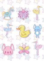 Coleção de desenhos animados de bebê fofo