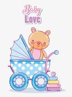 Cartão de amor do bebê vetor