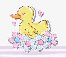 Desenho de pato bonito vetor