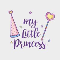 Meu pequeno cartão princesa vetor