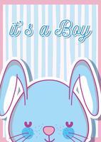 É um cartão de chá de bebê menino