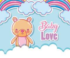 Amor bebê amor arco-íris vetor