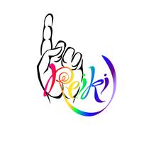 Reiki Energy. Logotipo Energia de cura. Medicina alternativa. Prática espiritual. Vetor. vetor