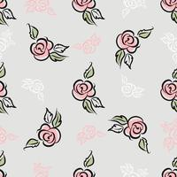 Padrão sem emenda Estampa floral. Rosas Decorativo. Vetor