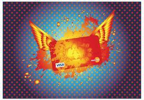 Cartão de crédito Visa Mastercard vetor